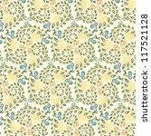 vector seamless hand drawn... | Shutterstock .eps vector #117521128