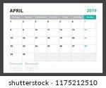 2019 calendar planner corporate ... | Shutterstock .eps vector #1175212510