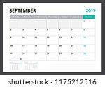 2019 calendar planner corporate ... | Shutterstock .eps vector #1175212516