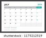 2019 calendar planner corporate ... | Shutterstock .eps vector #1175212519