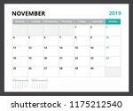 2019 calendar planner corporate ... | Shutterstock .eps vector #1175212540