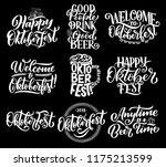 oktoberfest beer festival... | Shutterstock .eps vector #1175213599