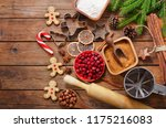 ingredients for christmas... | Shutterstock . vector #1175216083