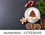 christmas drink. cup of... | Shutterstock . vector #1175216143