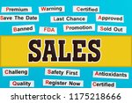 sales tag word cloud concept.... | Shutterstock . vector #1175218666