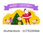 vector flat merry christmas...   Shutterstock .eps vector #1175220466