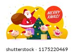 vector flat merry christmas...   Shutterstock .eps vector #1175220469