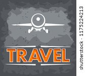 air travel sign grey | Shutterstock .eps vector #1175224213