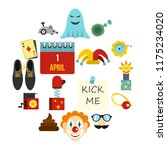 april fools day icons set in... | Shutterstock . vector #1175234020