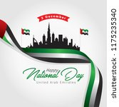 united arab emirates national... | Shutterstock .eps vector #1175235340