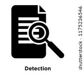 detection icon vector isolated... | Shutterstock .eps vector #1175236546