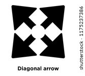 diagonal arrow icon vector...