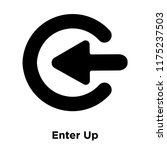 enter up icon vector isolated...