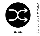 shuffle icon vector isolated on ...