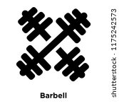 barbell icon vector isolated on ... | Shutterstock .eps vector #1175242573