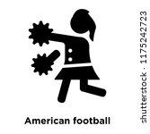 american football cheerleader... | Shutterstock .eps vector #1175242723