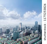 seoul cityscapes  skyline  high ... | Shutterstock . vector #1175253826