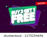 buy 2 get 1 free  sale banner... | Shutterstock .eps vector #1175254696