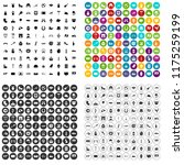 100 europe icons set in 4... | Shutterstock . vector #1175259199