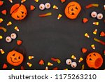 Halloween Candy Frame Over A...