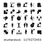business management glyph icons ... | Shutterstock .eps vector #1175272453