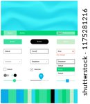 light blue  green vector design ...