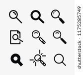 magnifier and search icon set...