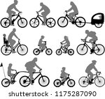 bicyclists silhouettes... | Shutterstock .eps vector #1175287090