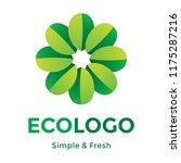 green leafs vector logo.... | Shutterstock .eps vector #1175287216
