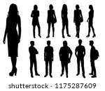 vector silhouettes men and... | Shutterstock .eps vector #1175287609