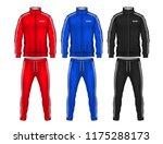 sport track suit design... | Shutterstock .eps vector #1175288173