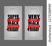 black friday sale inscription... | Shutterstock .eps vector #1175288989