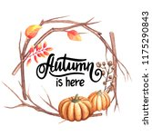 autumn illustration with an... | Shutterstock . vector #1175290843