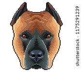 pixel staffordshire dog... | Shutterstock .eps vector #1175291239