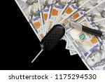 car's ignition and 100 dollars | Shutterstock . vector #1175294530