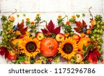 thanksgiving background with... | Shutterstock . vector #1175296786