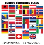 europe countries flags | Shutterstock .eps vector #1175299573