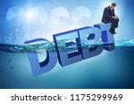businessman in debt business... | Shutterstock . vector #1175299969