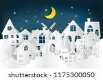 cityscape int the cloudscape in ... | Shutterstock .eps vector #1175300050