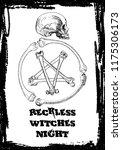 creative black halloween card... | Shutterstock .eps vector #1175306173