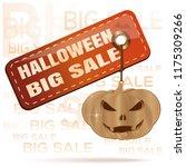 halloween big sale. orange tag... | Shutterstock .eps vector #1175309266