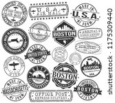 boston massachusetts stamp... | Shutterstock .eps vector #1175309440