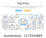 linear banner of the politics.... | Shutterstock .eps vector #1175310889