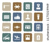 border crossing icons. grunge... | Shutterstock .eps vector #1175319949