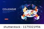 business meeting. presentation... | Shutterstock .eps vector #1175321956