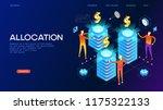 allocation concept. modern 3d... | Shutterstock .eps vector #1175322133