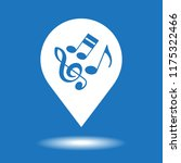 map pointer with musical notes... | Shutterstock .eps vector #1175322466