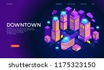 downtown vector concept.... | Shutterstock .eps vector #1175323150