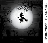 halloween background with witch ... | Shutterstock .eps vector #1175325403