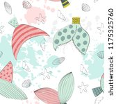 vector seamless pattern with a... | Shutterstock .eps vector #1175325760